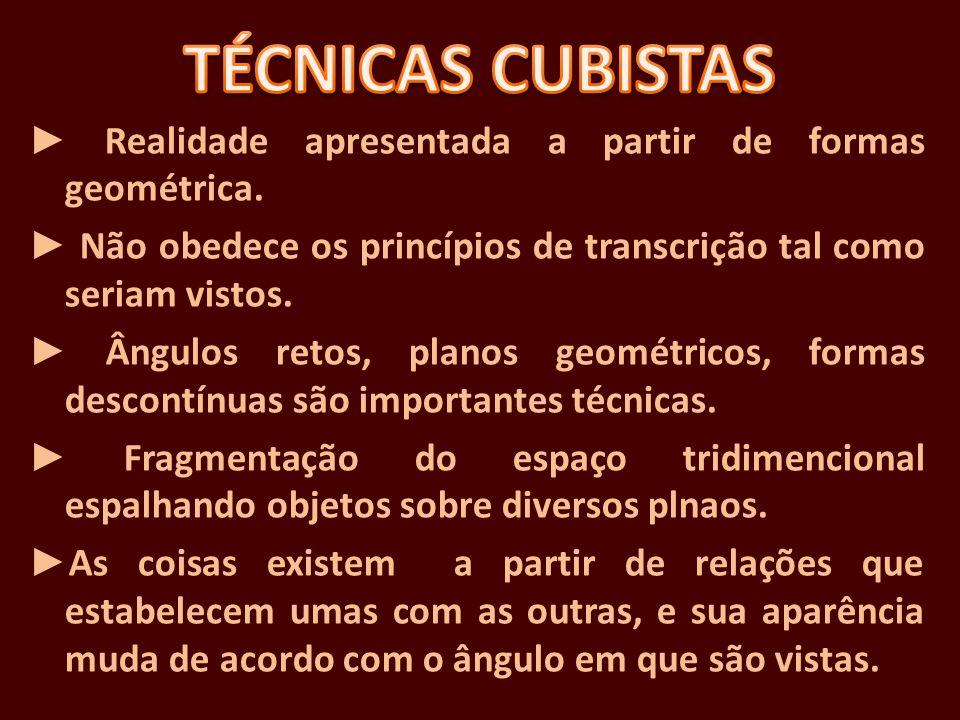 TÉCNICAS CUBISTAS