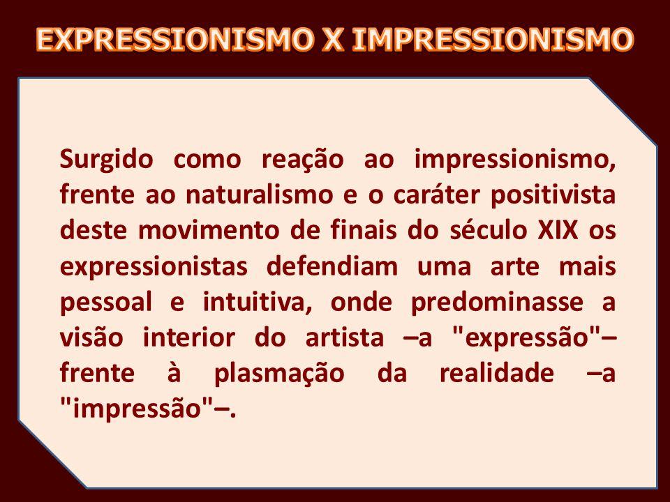 EXPRESSIONISMO X IMPRESSIONISMO