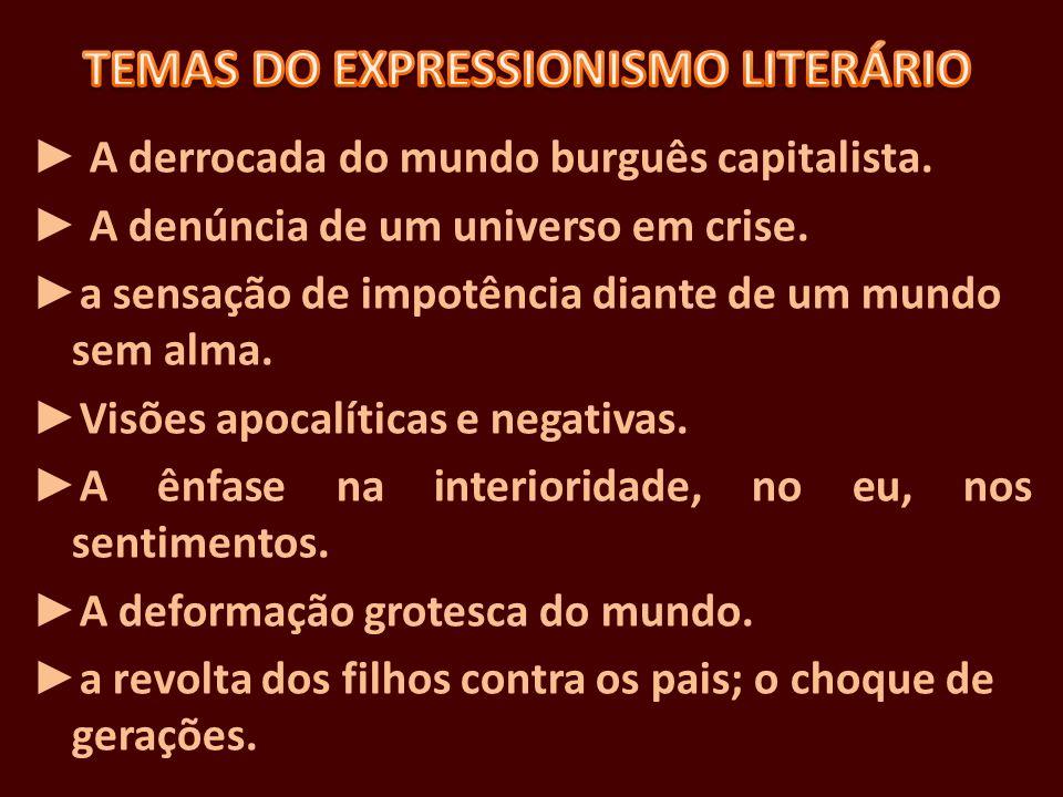 TEMAS DO EXPRESSIONISMO LITERÁRIO