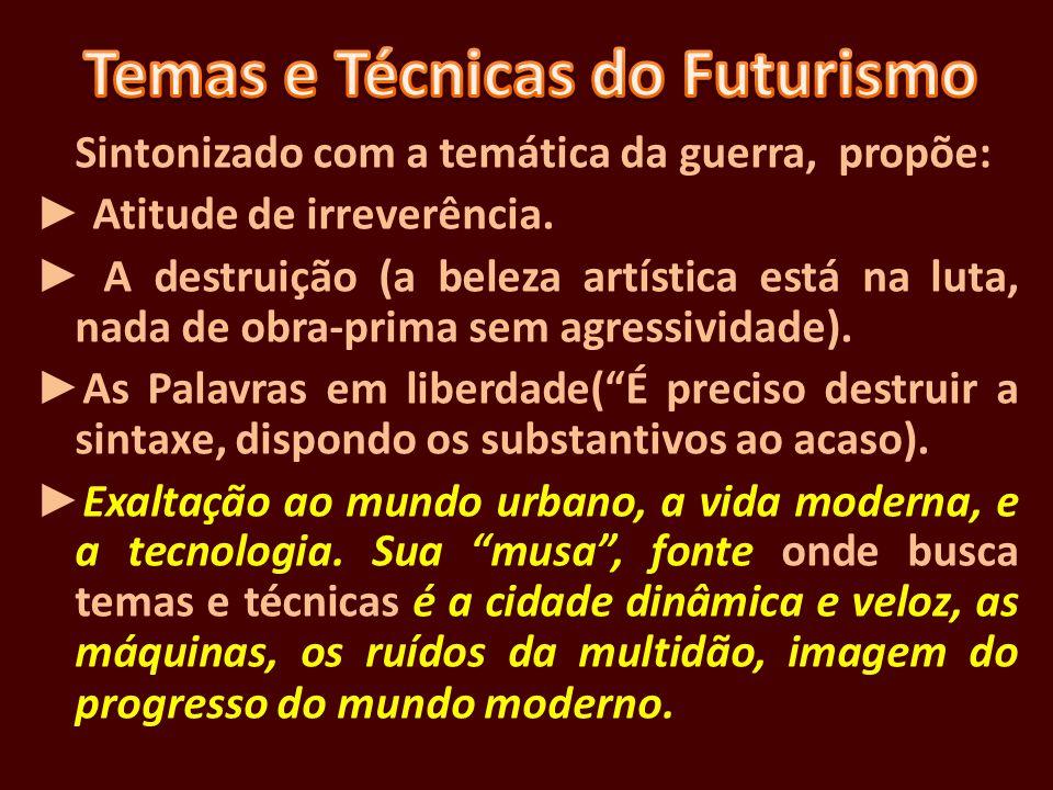 Temas e Técnicas do Futurismo