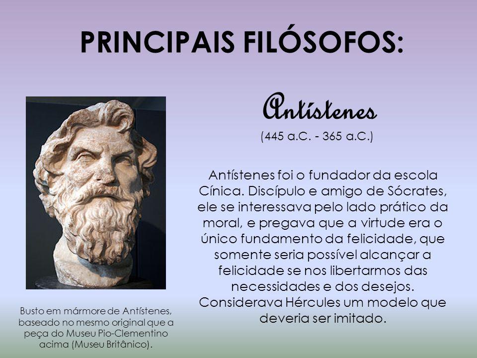 PRINCIPAIS FILÓSOFOS: