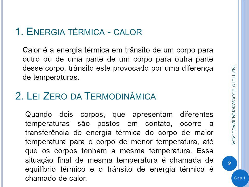 1. Energia térmica - calor