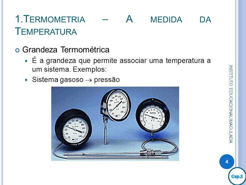 1.Termometria – A medida da Temperatura