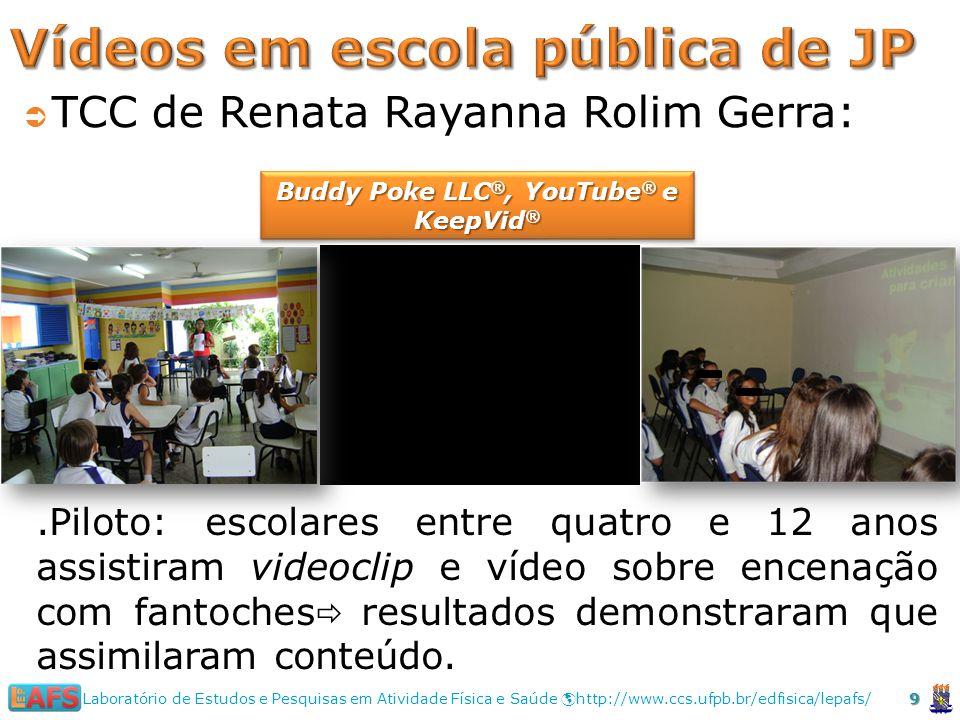 Vídeos em escola pública de JP