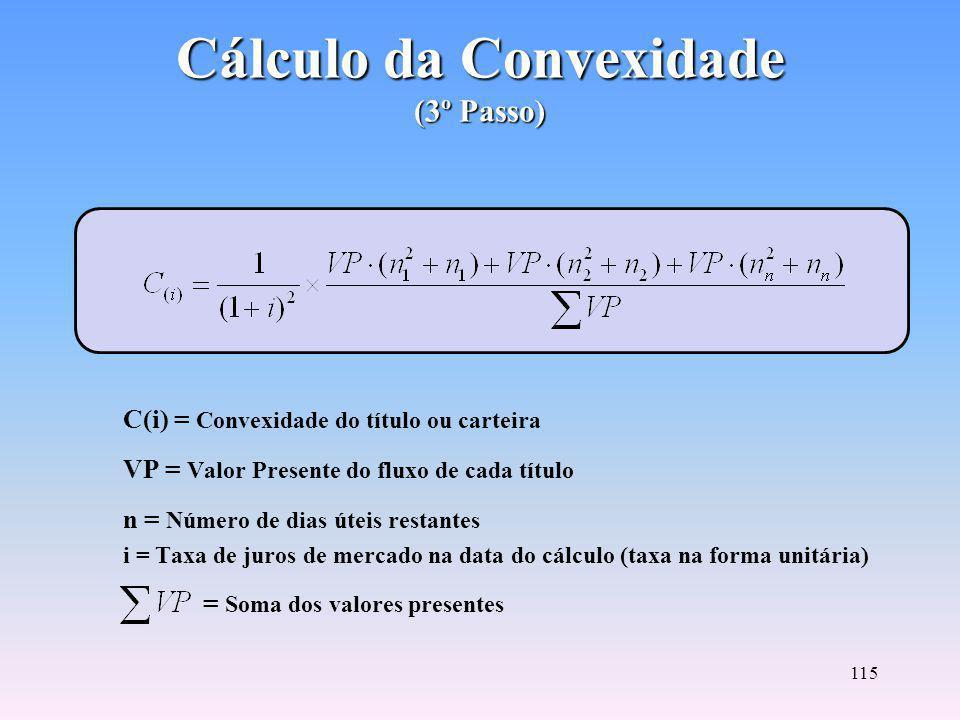 Cálculo da Convexidade (3º Passo)