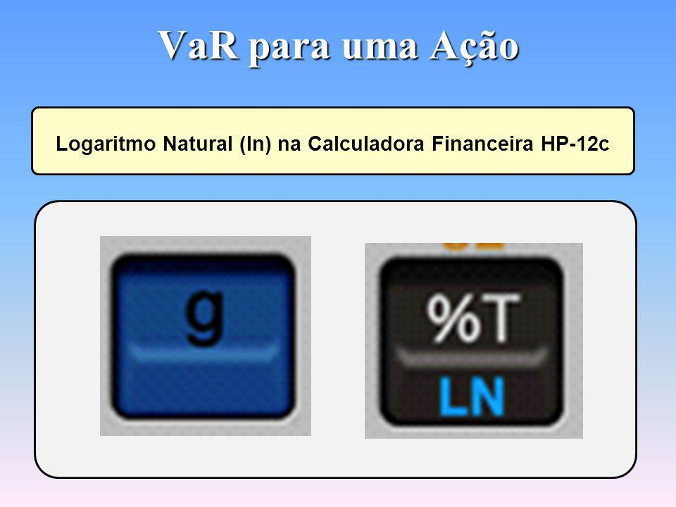 Logaritmo Natural (ln) na Calculadora Financeira HP-12c