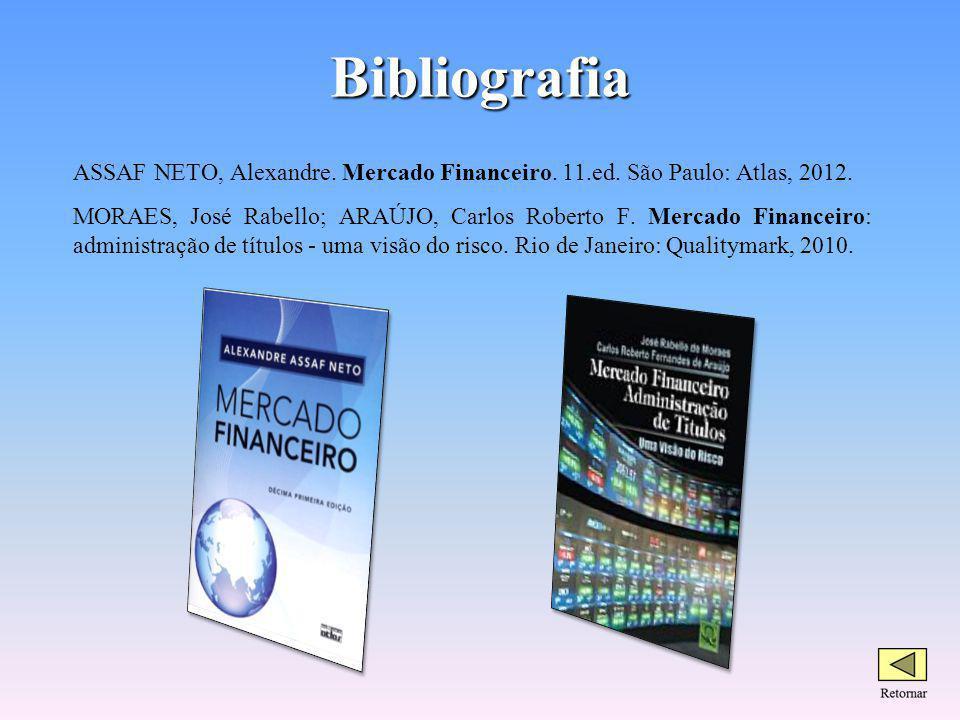 Bibliografia ASSAF NETO, Alexandre. Mercado Financeiro. 11.ed. São Paulo: Atlas, 2012.