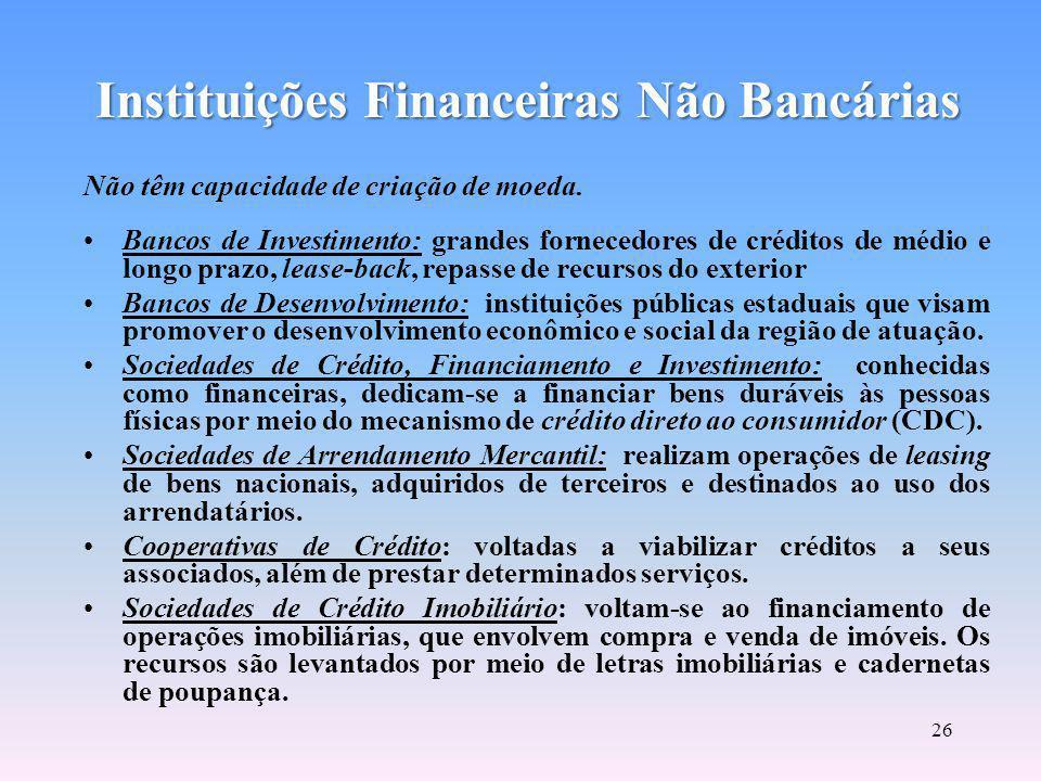 Instituições Financeiras Não Bancárias