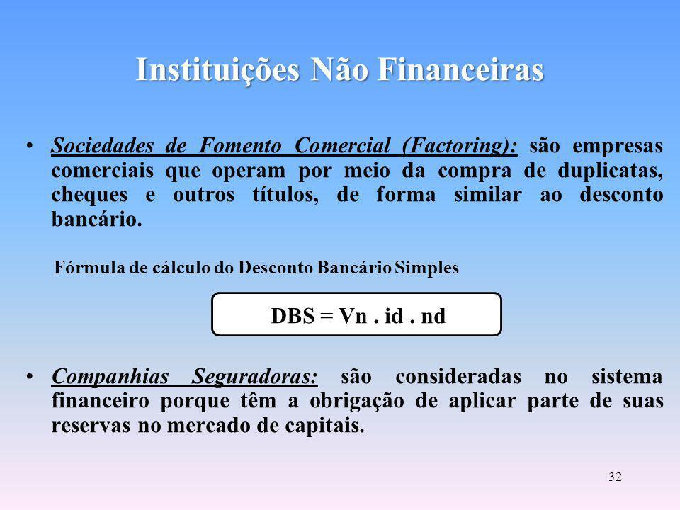 Instituições Não Financeiras