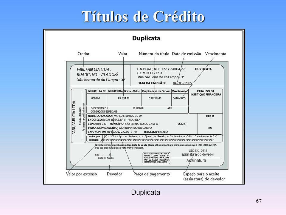 Títulos de Crédito Duplicata