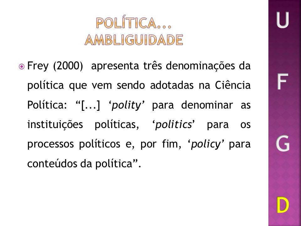 Política... ambliguidade
