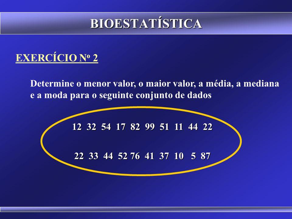 BIOESTATÍSTICA EXERCÍCIO No 2