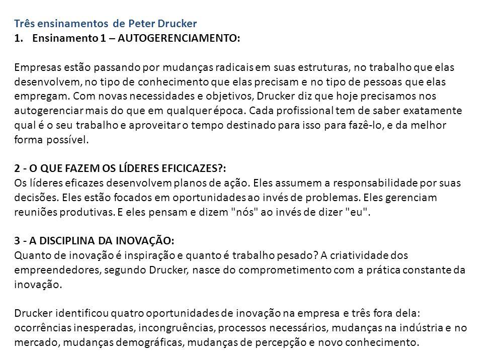 Três ensinamentos de Peter Drucker