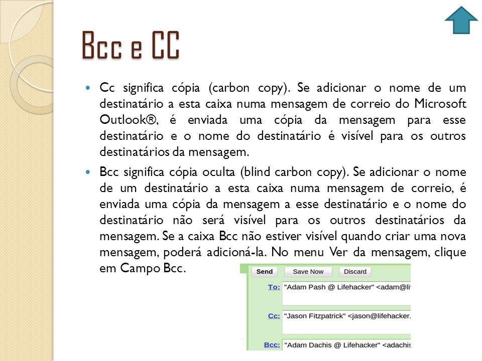 Bcc e CC