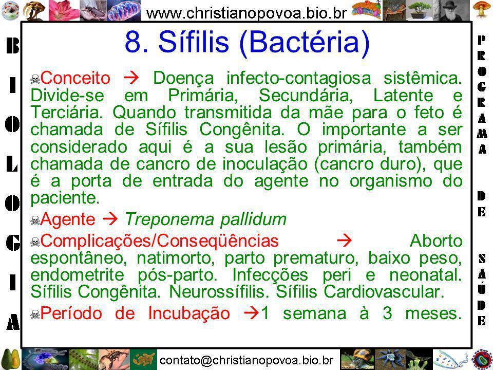 8. Sífilis (Bactéria)