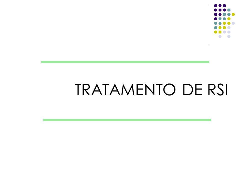 TRATAMENTO DE RSI