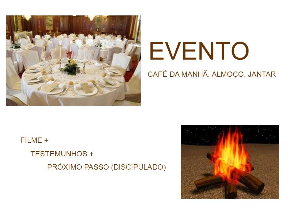 EVENTO CAFÉ DA MANHÃ, ALMOÇO, JANTAR FILME + TESTEMUNHOS +