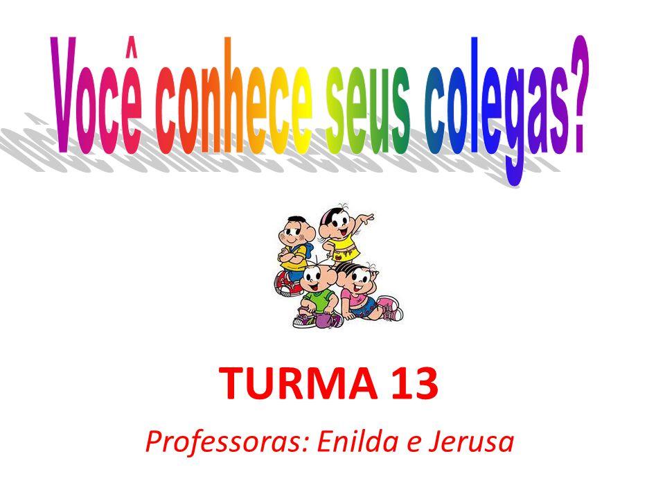 TURMA 13 Professoras: Enilda e Jerusa