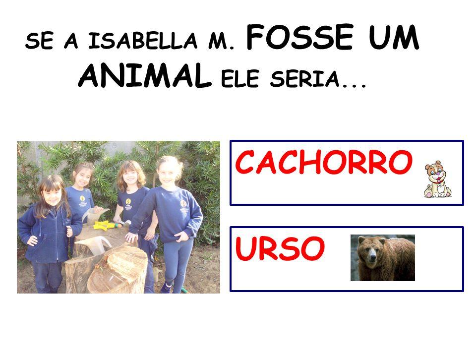 SE A ISABELLA M. FOSSE UM ANIMAL ELE SERIA...