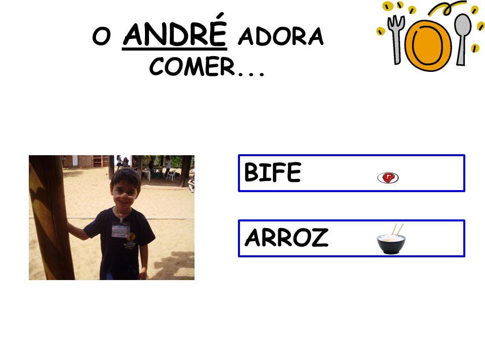 O ANDRÉ ADORA COMER... BIFE ARROZ 5 5