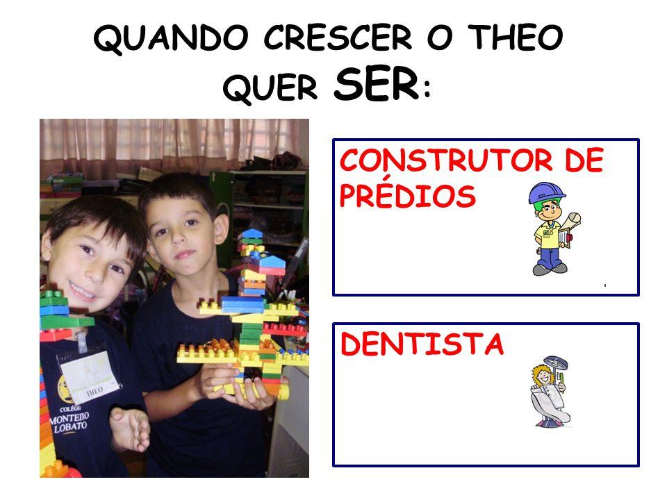 QUANDO CRESCER O THEO QUER SER:
