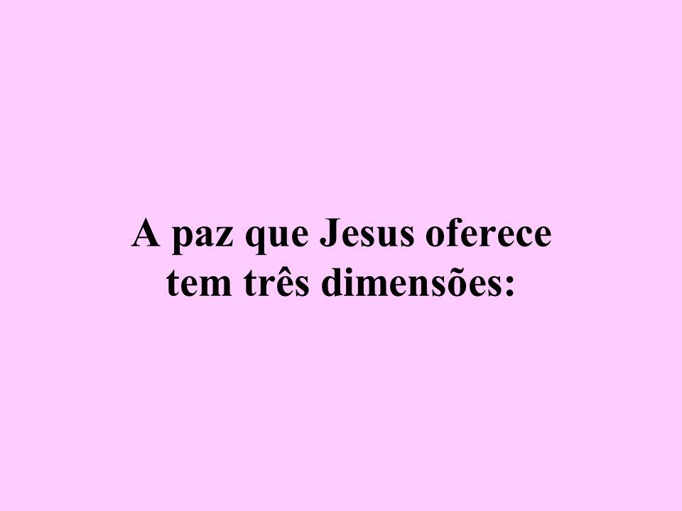 A paz que Jesus oferece tem três dimensões: