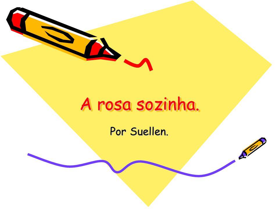 A rosa sozinha. Por Suellen.