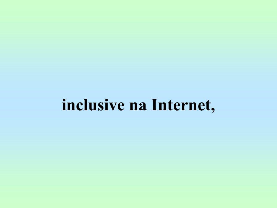 inclusive na Internet,