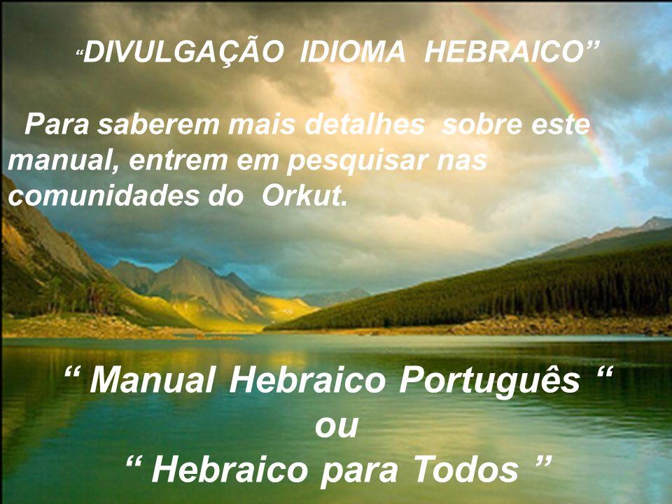 DIVULGAÇÃO IDIOMA HEBRAICO Manual Hebraico Português