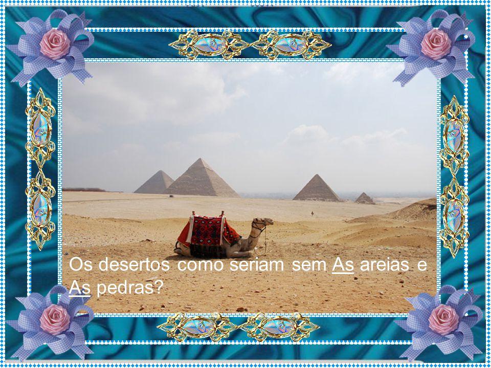 Os desertos como seriam sem As areias e