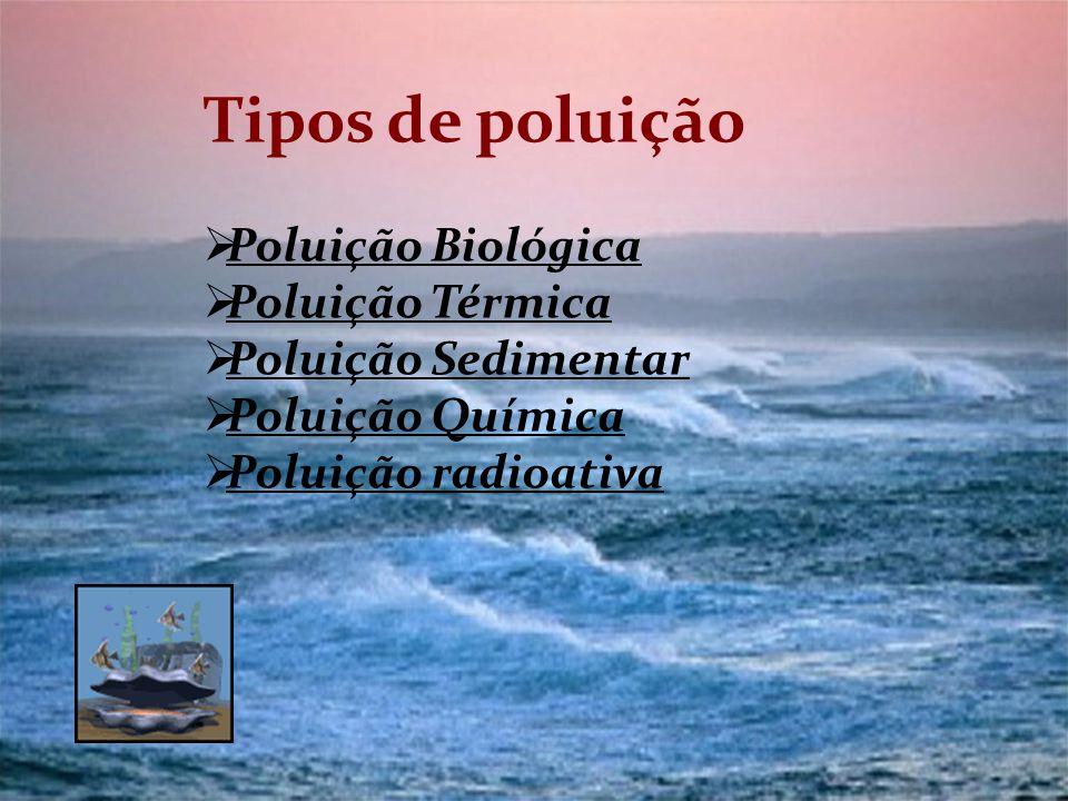 Tipos de poluição Poluição Biológica Poluição Térmica