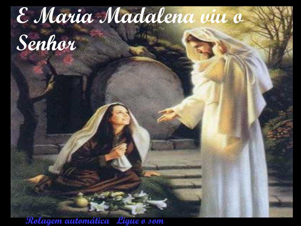 E Maria Madalena viu o Senhor
