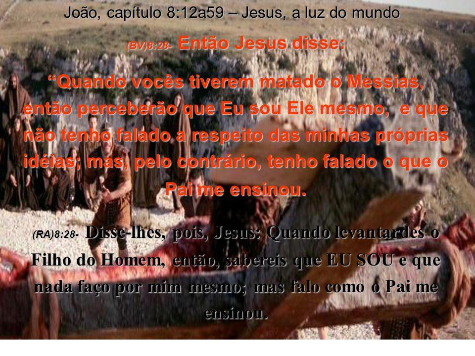 (BV)8:28- Então Jesus disse: