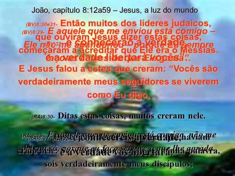 João, capítulo 8:12a59 – Jesus, a luz do mundo