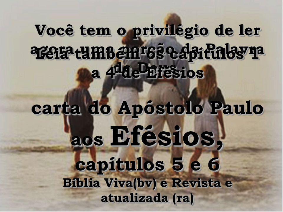 carta do Apóstolo Paulo aos Efésios, capítulos 5 e 6