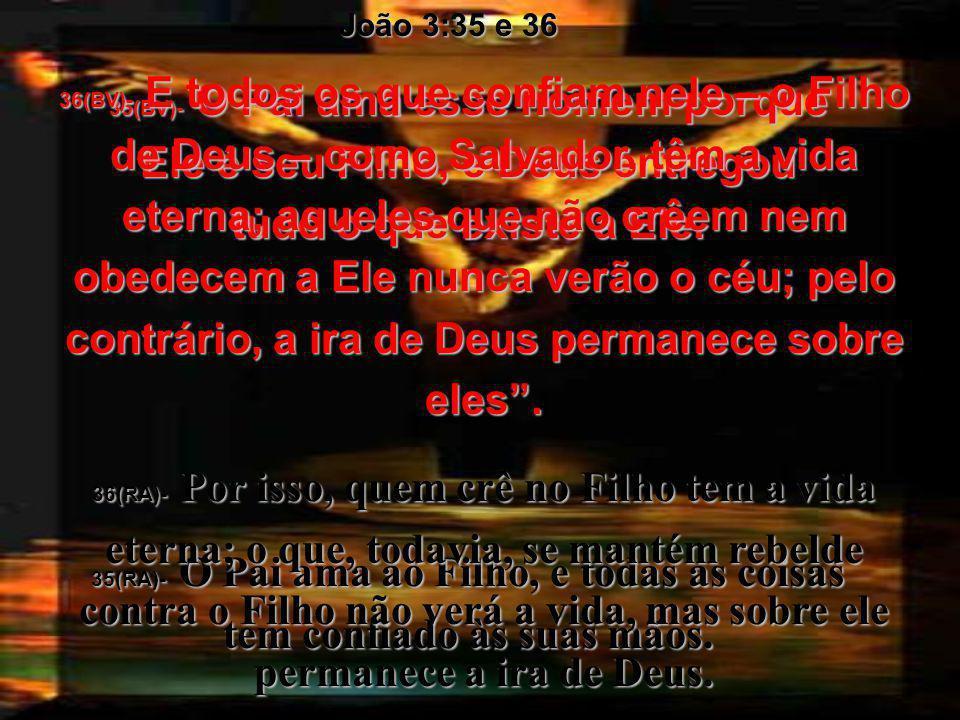 João 3:35 e 36