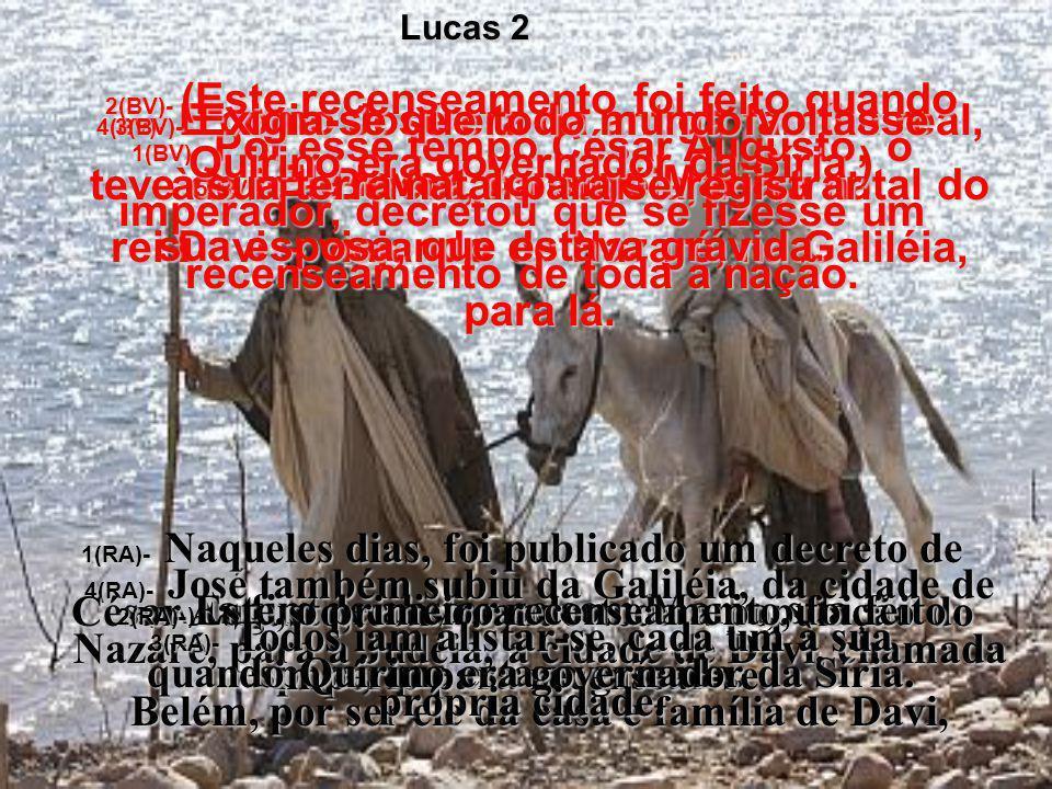 Lucas 2 2(BV)- (Este recenseamento foi feito quando Quirino era governador da Síria.)