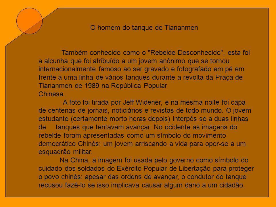 O homem do tanque de Tiananmen