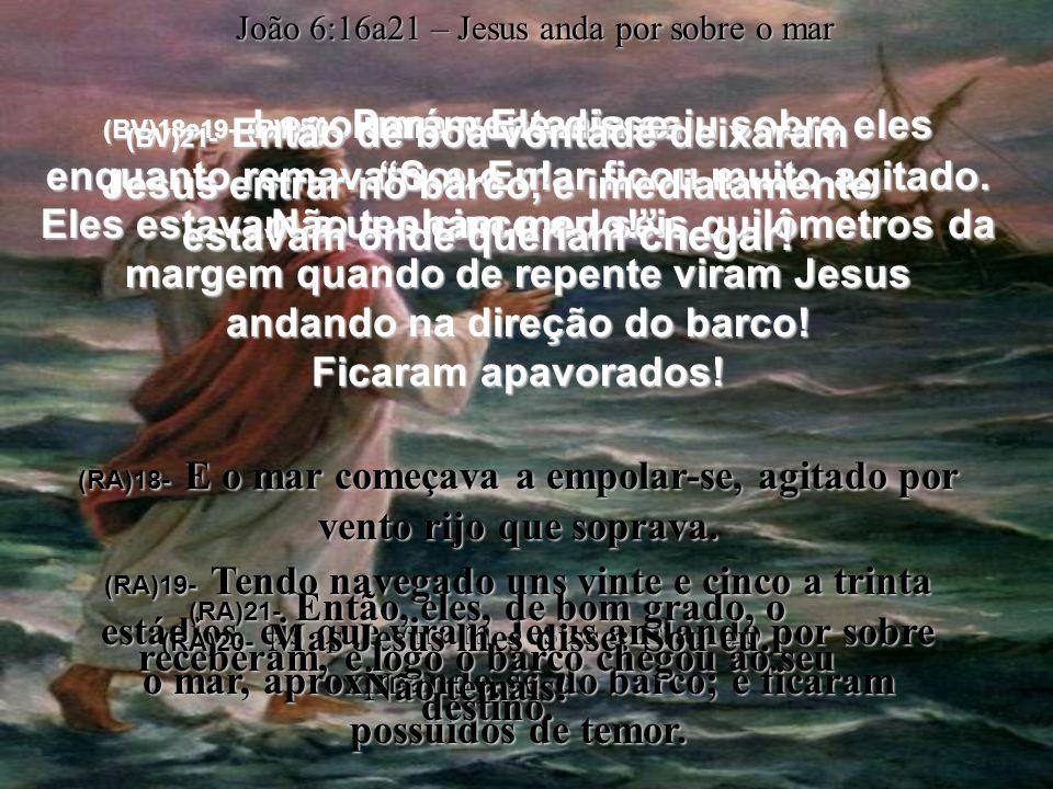 (RA)20- Mas Jesus lhes disse: Sou eu. Não temais!