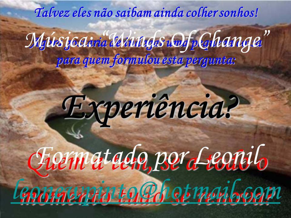 Experiência Formatado por Leonil leonewpinto@hotmail.com