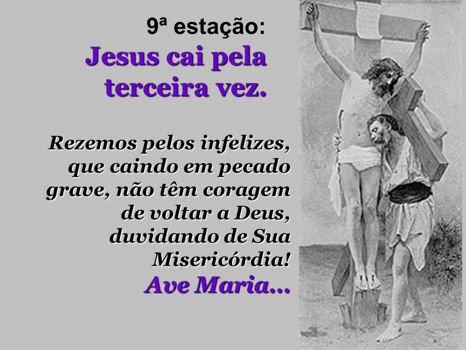 Jesus cai pela terceira vez. 9ª estação: