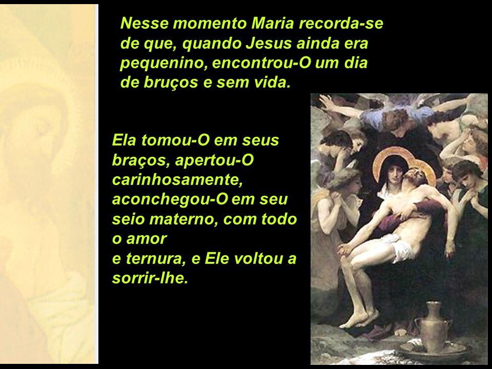 Nesse momento Maria recorda-se de que, quando Jesus ainda era pequenino, encontrou-O um dia de bruços e sem vida.