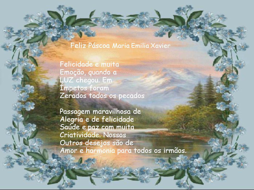 Feliz Páscoa Maria Emilia Xavier