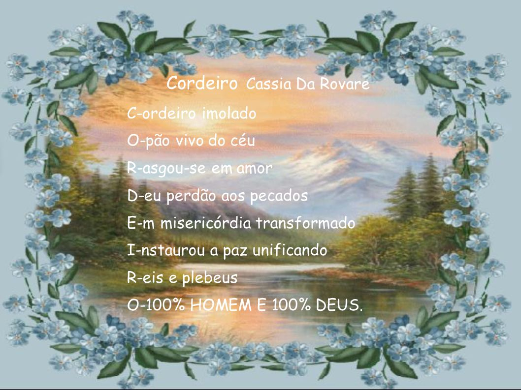 Cordeiro Cassia Da Rovare