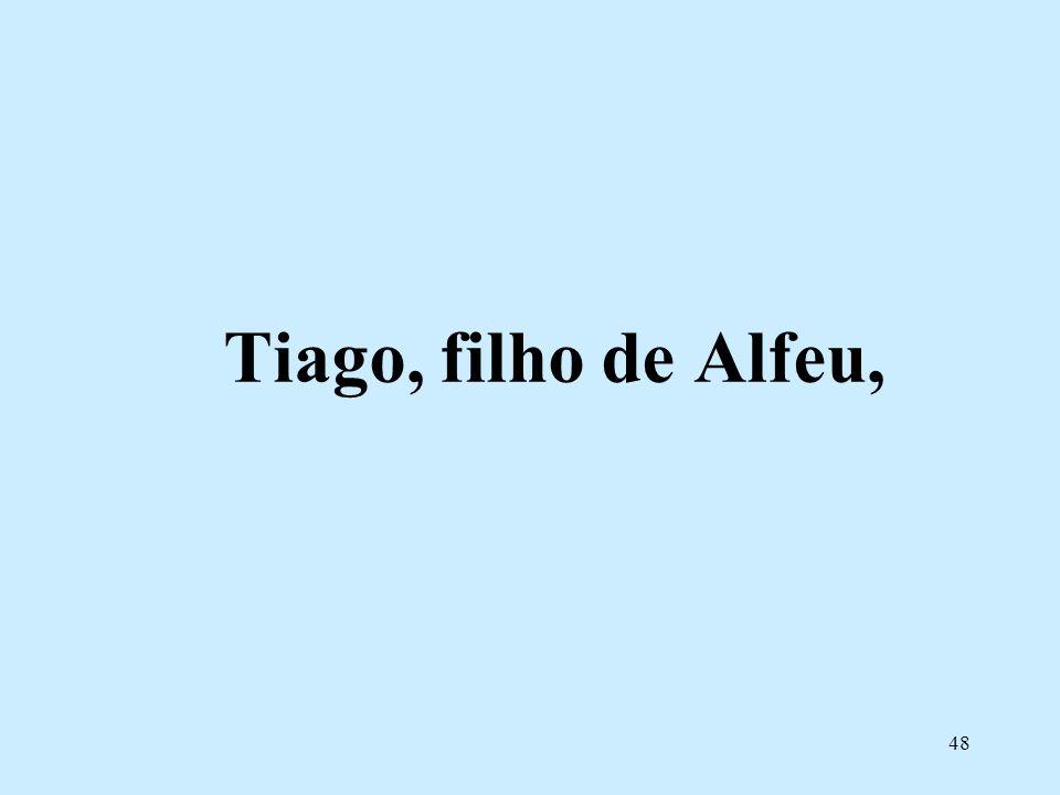 Tiago, filho de Alfeu,