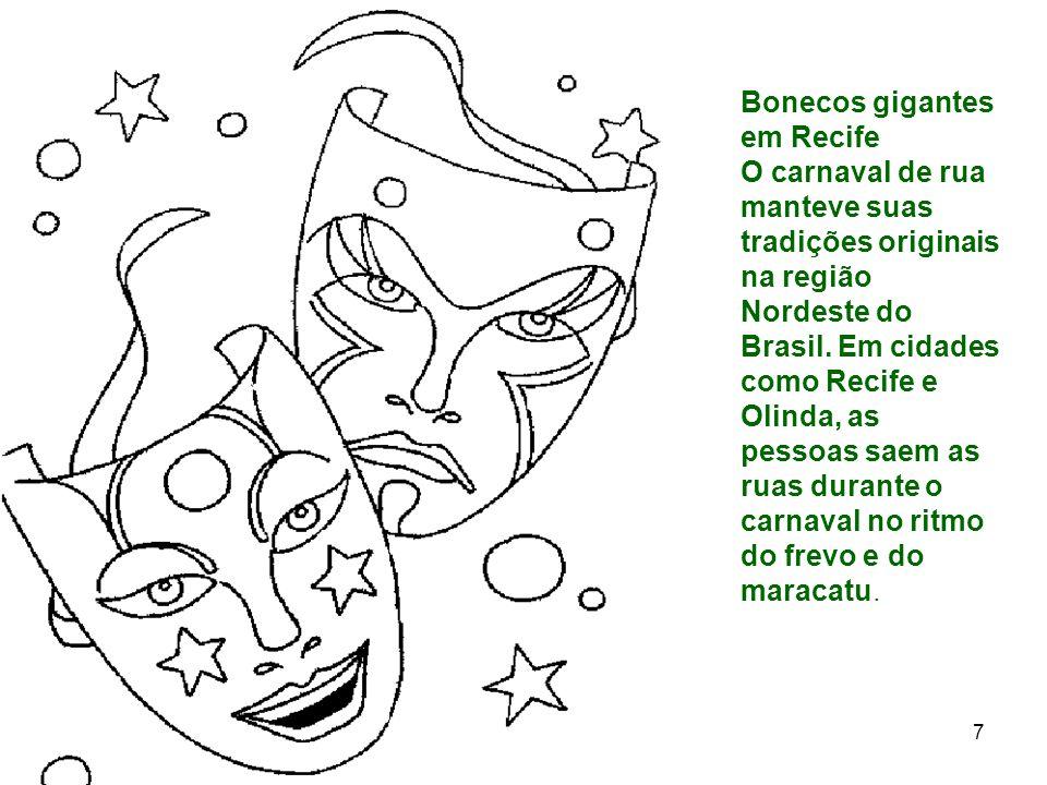 Bonecos gigantes em Recife