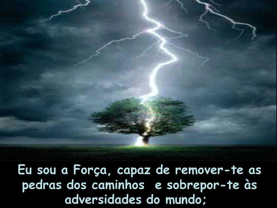 Eu sou a Força, capaz de remover-te as pedras dos caminhos e sobrepor-te às adversidades do mundo;