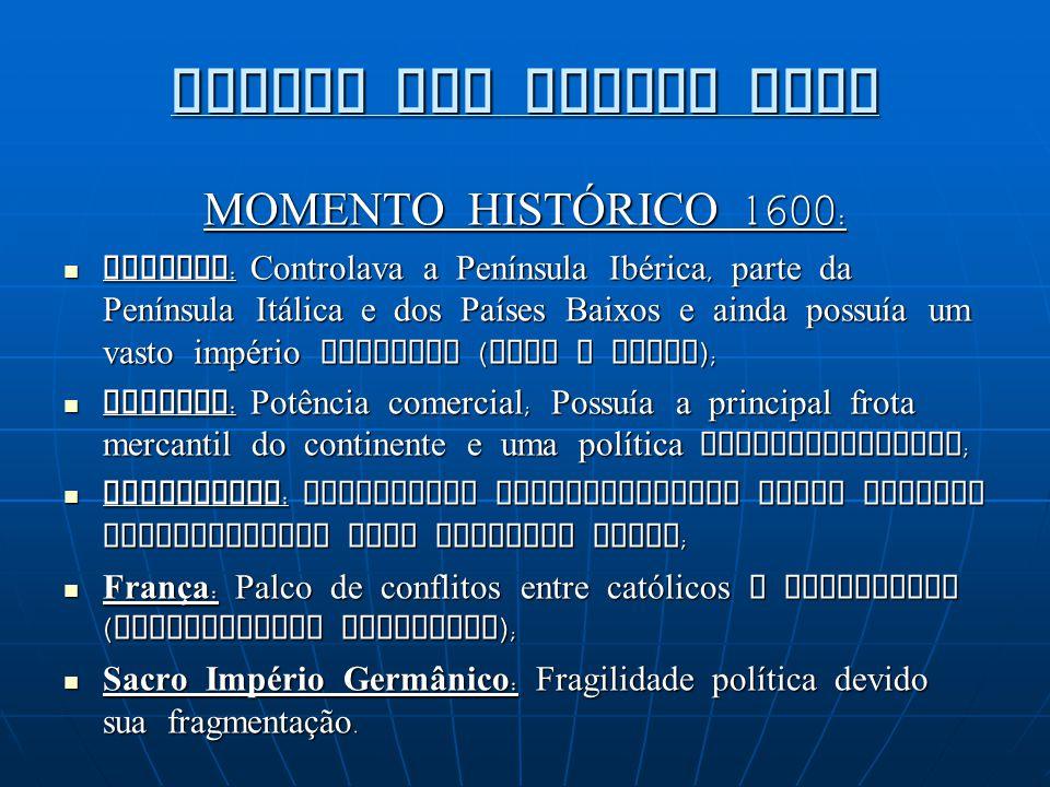 GUERRA DOS TRINTA ANOS MOMENTO HISTÓRICO 1600: