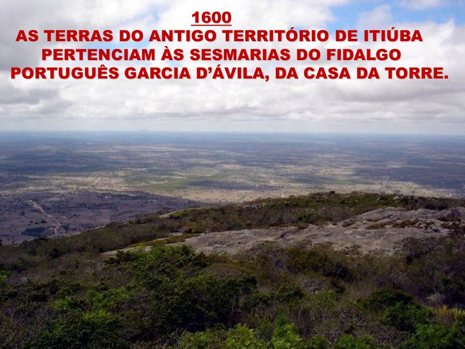 1600 AS TERRAS DO ANTIGO TERRITÓRIO DE ITIÚBA.
