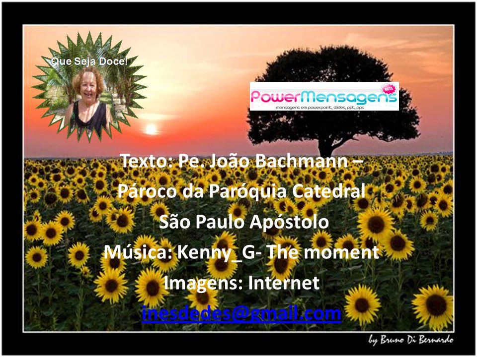 Texto: Pe. João Bachmann – Pároco da Paróquia Catedral